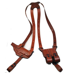 Armadillo Tan Leather Shoulder Holster