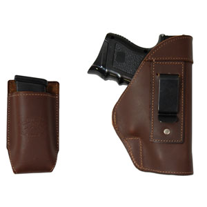 Barsony New Brown Leather IWB Holster