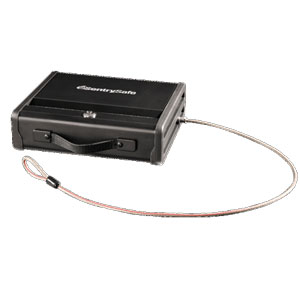 SentrySafe Pistol Safe with Key Lock & Tether Cable